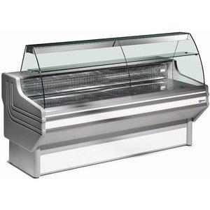Diamond Vitrine Toonbank | Granieten Werkblad | Gekoeld 0° / 2° | 1500x1060x(H)1270mm