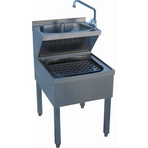 Diamond Stainless Steel Hand sink Combined | Pours Sink | PRO | 500x700x (H) 620/870 mm