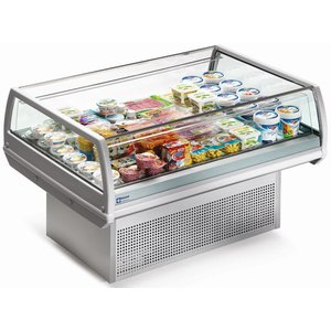 Diamond Refrigerated display case - stainless steel - Self-Service - 129x96x (h) 92cm