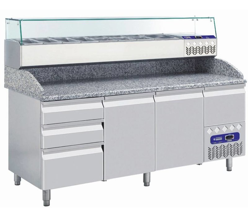 Diamond Structure Showcase Refrigerated 7x 1/4 GN - 160x34x (H) 22.5 cm