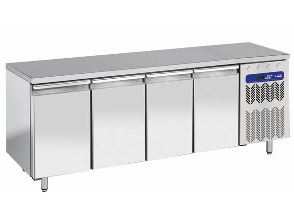 Diamond Workbench cooled - Stainless Steel - 4 Laden - 200x70x (h) 63 / 65cm - 1/1 - DELUXE