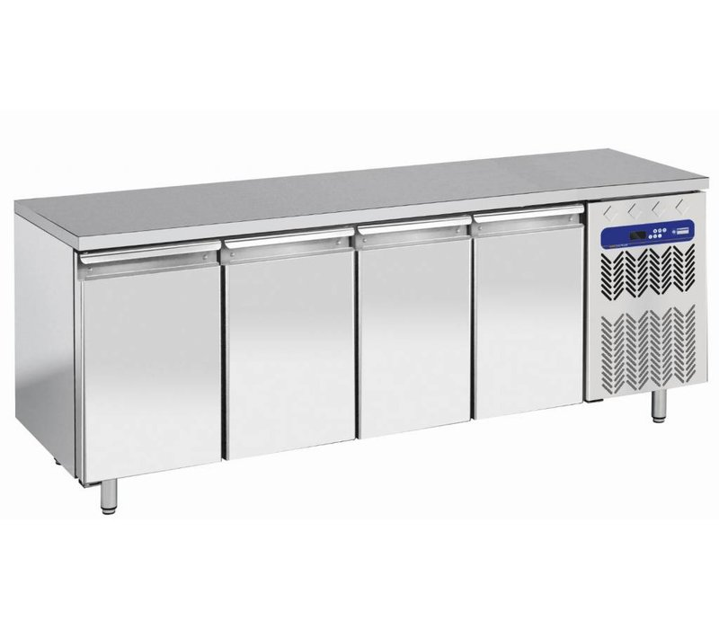 Diamond Workbench gekühlt - Edelstahl - 4 Laden - 200x70x (h) 63 / 65cm - 1/1 - DELUXE