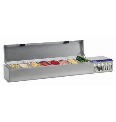 Diamond Struktur Showcase Cooling - 3x1 / 4 7x1 / 7x1 6/9 CN - inc Deckel - 219x32,4x38,5 / 51,5 cm