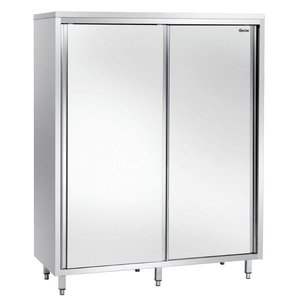 Bartscher Porcelain Cabinet stainless steel with three wear Shelves - 1600x700x2000 (h) mm