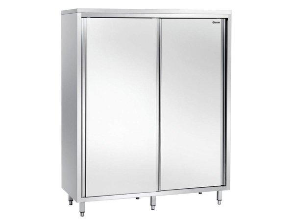 Bartscher Porcelain Cabinet stainless steel with three wear Shelves - 1600x700x2000 (h) mm