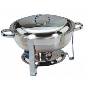 Saro MINI Chafing Dish   RVS Gepolijst   Rond 4 Liter   Ø340x(H)250mm