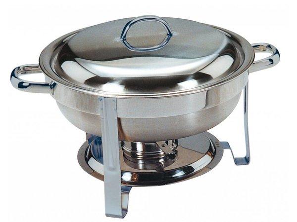 Saro MINI Chafing Dish | Edelstahl poliert | Rund 4 Liter | Ø340x (H) 250mm