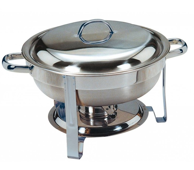 Saro MINI Chafing Dish   Polished Stainless Steel   Around 4 Liter   Ø340x (H) 250mm