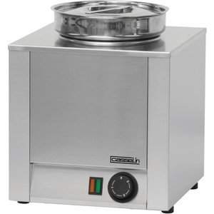 Casselin Hot Pot | Stainless steel | Bain Marie | 4.5 Liter | 300x300x (H) 350mm