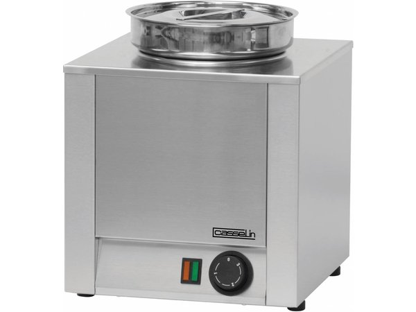 Casselin Hot Pot   RVS   Bain Marie   4,5 Liter   300x300x(H)350mm