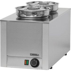 Casselin Hot Pot | Dubbel Bain Marie | RVS | 4,5 Liter | 300x300x(H)350mm
