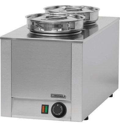 Casselin Hot Pot | Doppel Bain-Marie | Edelstahl | 4,5 Liter | 300x300x (H) 350mm