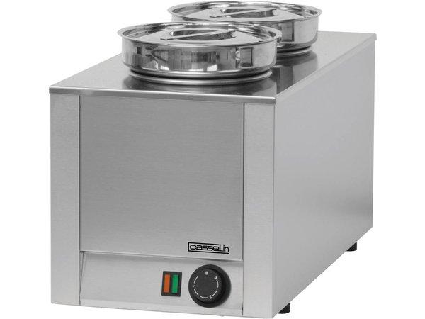 Casselin Hot Pot | Double Bain Marie | Stainless steel | 4.5 Liter | 300x300x (H) 350mm