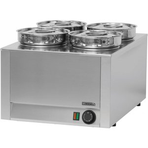 Casselin Hotpot | Bain-Marie | RVS | 4x4,5 Liter | 800W | 450x600x(H)350mm