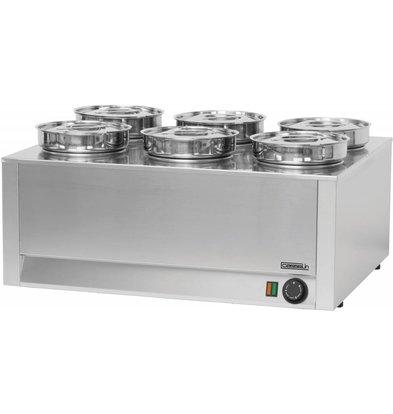 Casselin Bain-Marie Hotpot 6x4.5 Liter | 1200W | 750x600x (H) 350mm