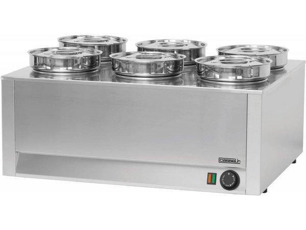 Casselin Bain-Marie Hotpot 6x4,5 Liter | 1200W | 750x600x (H) 350mm