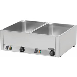 Casselin Double Bain Marie | Stainless steel | 2x1 / 1 GN | 3000W | 660x540x (H) 220mm