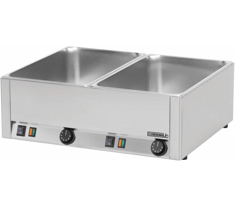 Casselin Double Bain Marie | Stainless steel | 2x1 / 1 GN | 3000W | 660x540x (H) 220mm