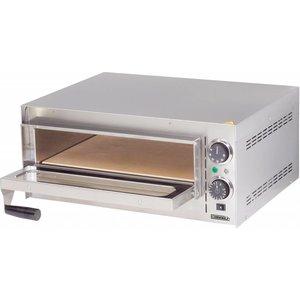 Casselin Pizzaofen | Edelstahl | Doppelzimmer Heizung | 2000W | 570x470x (H) 250mm