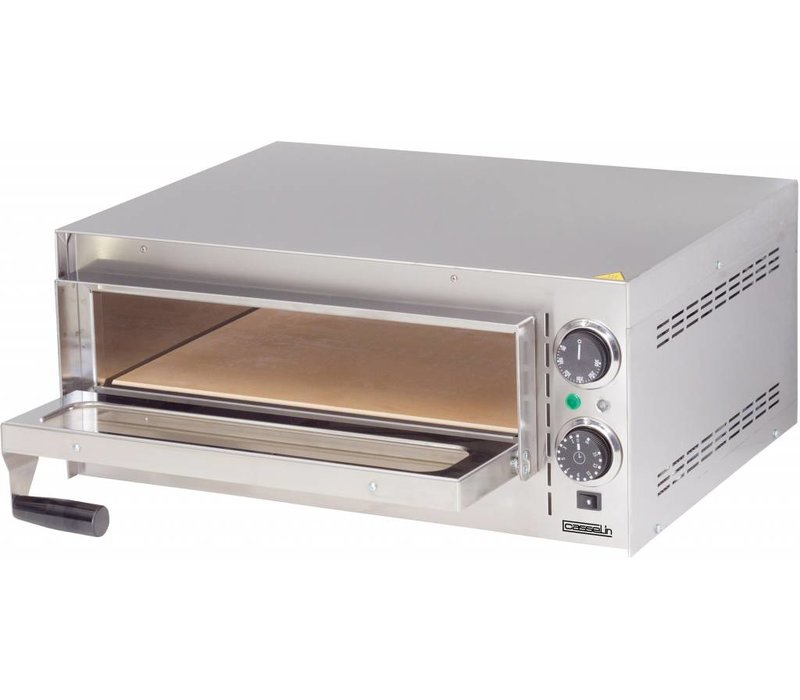 Casselin Pizza Oven | Stainless steel | Double Heating System 2000W | 570x470x (H) 250mm
