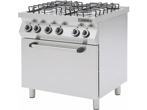 Casselin Stove 4 Burners + Electric Oven 1 / 1GN | 230V | 800x700x (H) 850 / 900mm