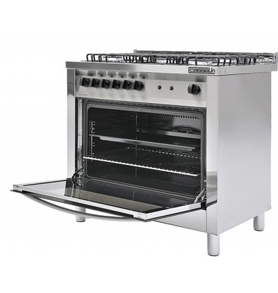 Casselin 5 Pits Gas stove + oven 117 Liter | 900x600x (H) 850 / 900mm