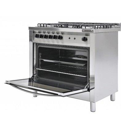 Casselin Gasfornuis 5 Pits + Gas oven 117 Liter | 900x600x(H)850/900mm