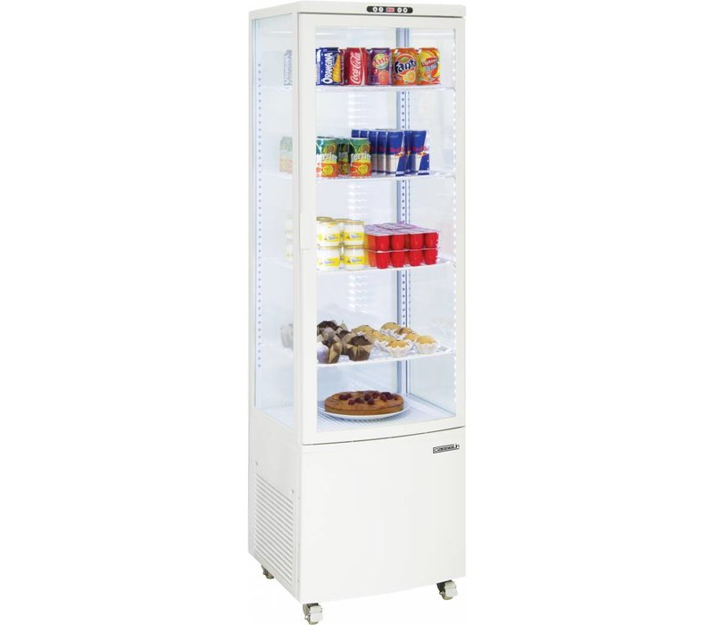Casselin Refrigerated display case - White - 235 liters - With Wheels
