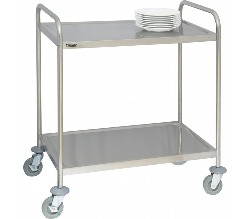 Casselin Serving trolley - Stainless steel - 120kg load capacity - 920x600x (h) 945mm
