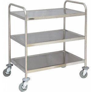 Casselin Serving trolley - Stainless steel - 3 shelves - 920x600x (h) 945mm