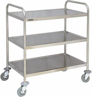 Casselin Serving trolley - Stainless steel - 3 shelves - 920x600x (h) 945mm