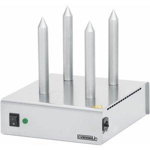 Casselin Bread Heater - Edelstahl - Mit vier Bars - 260x300x (H) 290 mm