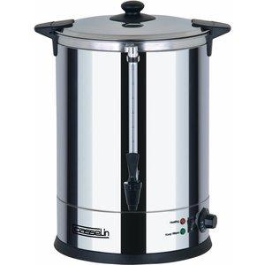 Casselin Hot Water Dispenser Edelstahl   Doppelzimmer plus Hahn   Ø318mm   20 Liter