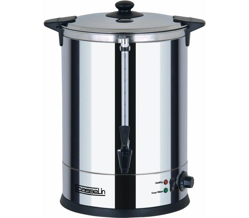 Casselin Hot Water Dispenser Stainless Steel | double plus Faucet | Ø318mm | 20 liter