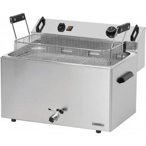 Casselin Friteuse   Elektrisch   Koudezone   Bakkerij Vis en Oliebollen   16 liter   400V   9kW   540x450x(h)370mm