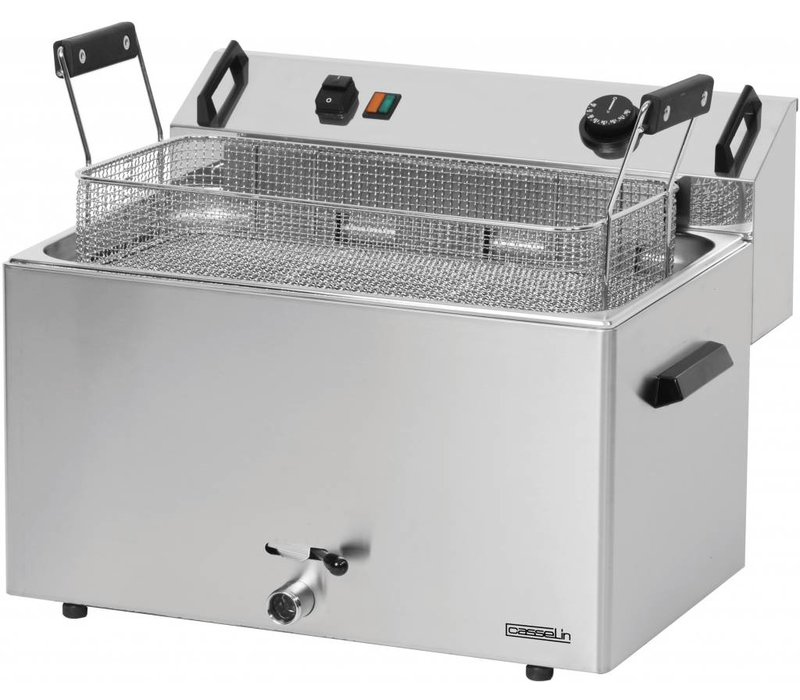 Casselin Fritteuse | Elektrizität | Kalte Zone | Bäckerei Fisch und Oliebollen | 16 Liter | 400V | 9 kW | 540x450x (H) 370mm