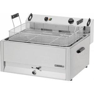 Casselin Friteuse | Elektrisch | Koudezone | Bakkerij Vis en Oliebollen | 30 liter | 400V | 15kW | 670x650x(h)370mm