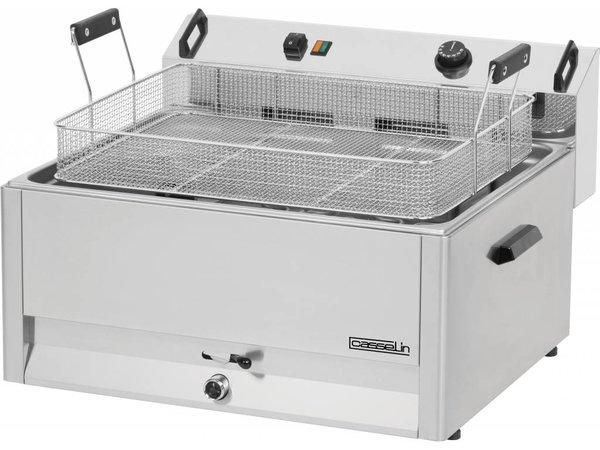 Casselin Fritteuse | Elektrizität | Kalte Zone | Bäckerei Fisch und Oliebollen | 30 Liter | 400V | 15kW | 670x650x (H) 370mm