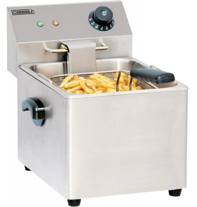 Casselin Fryer | Stainless steel | 4 Liter | 2kW | 220x400x (H) 315mm