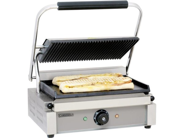 Casselin Panini Grill | Ribbed / Smooth | 410x370x (H) 200mm | 2200W