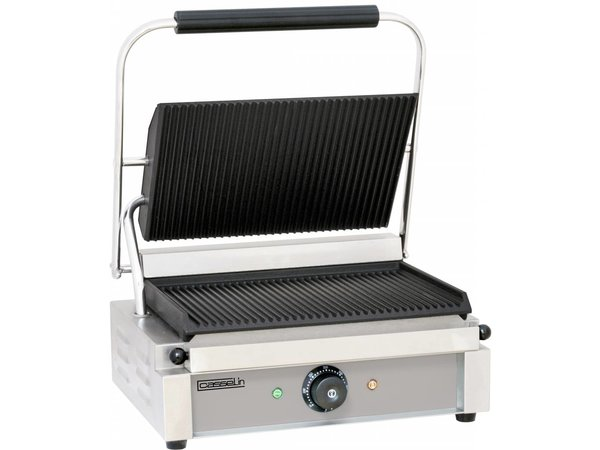 Casselin Panini Grill | Corded / ribbed | 410x370x (H) 200mm | 2200W