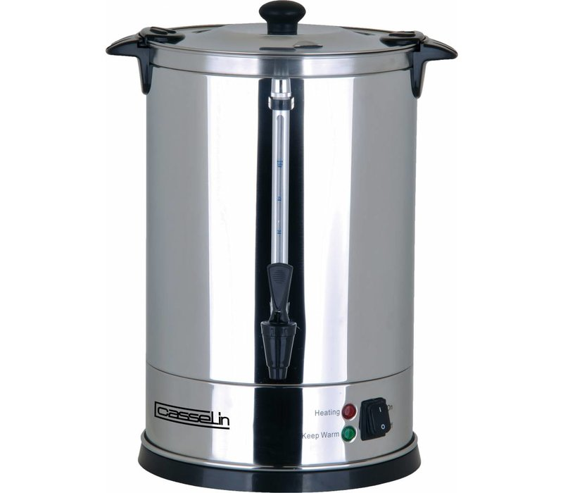 Casselin Double walled stainless steel percolator | No Filters Needed | Ø270x (H) 440mm | 100-110 Cups | 15 Liter