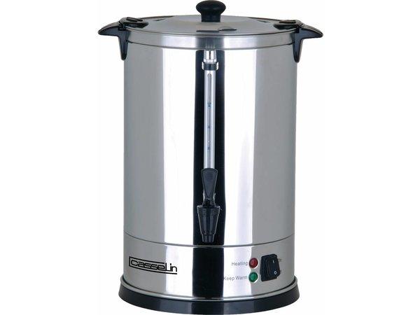 Casselin Percolator Dubbelwandig | RVS | Geen Filters Nodig | Ø210x(H)370mm | 62-70 Kopjes | 9 Liter