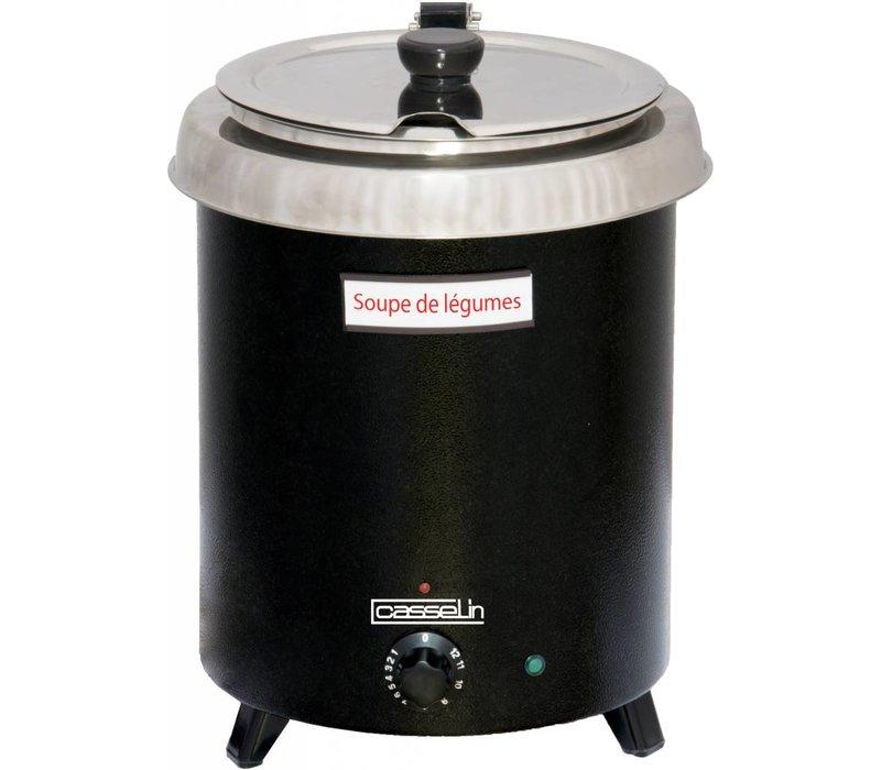 Casselin Elektrische Suppenkessel - Thermo Coating Edelstahl Reservoir - 8,5 Liter