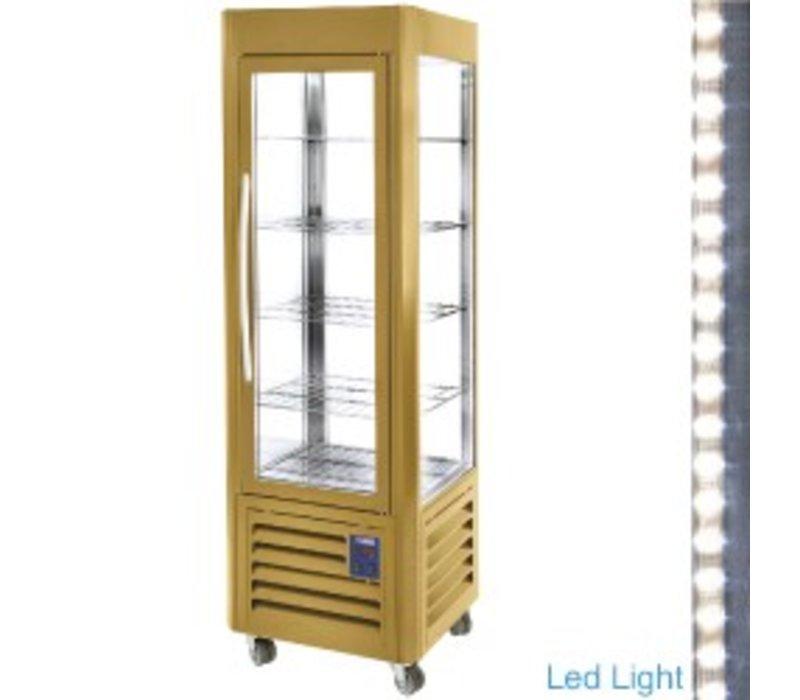 Diamond Kühlvitrine - Gold - 360 Liter - 5 Spielplan und Wheels - 60x63x (h) 185cm