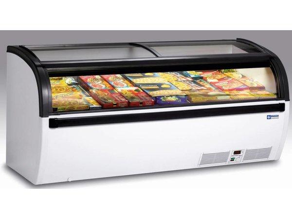Diamond Freezer with glass sliding cover   -15 ° to -23 ° - 200x94x (h) 88cm - Lighting