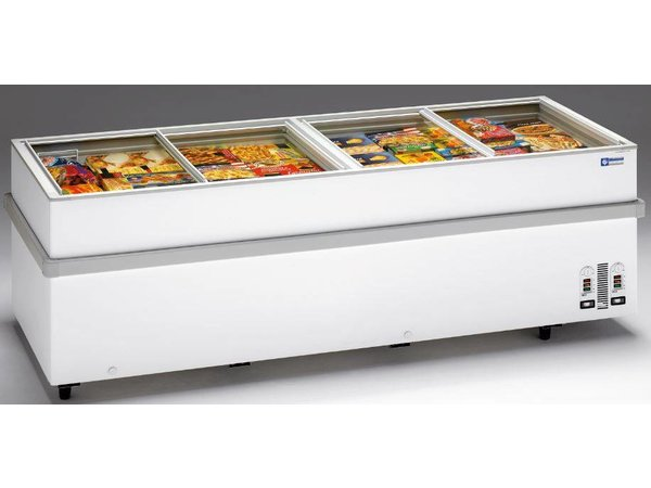 Diamond Freezer - Glass sliding cover   -15 ° to -23 ° - 205x96x (h) 78cm
