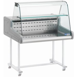 Diamond Refrigerated Display Vitrine XL SS + Light - with Sliding - 150x93x (h) 66 cm