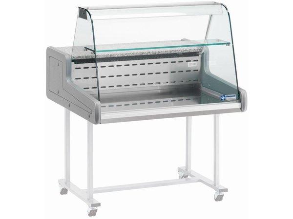 Diamond Refrigerated Display Vitrine XL SS + Light - with Sliding - 150x93x (h) 66 cm
