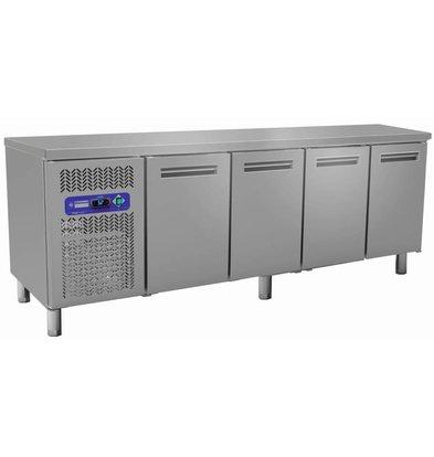 Diamond Koelwerkbank - RVS - 4 deurs - 225x70x(h)88/90cm - 550 Liter